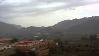 امطار اليوم الثلاثاء وادي نيرا 20/06/1434