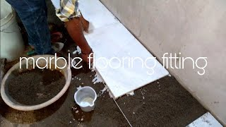 How to install Marble flooring  in India work ( full process )