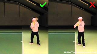 One Handed Backhand: Develop A Straight Hitting Arm
