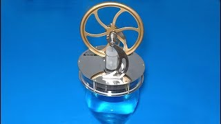 How dose a low temperature stirling engine model work ?