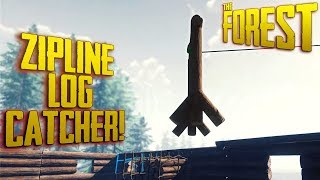 S2 EP5 - Building A Log Catcher for Ziplines + 10 Athleticism in 30 Minutes (v0.69) | The Forest