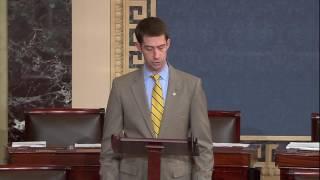 """Senator Cotton recognizes Kim Carter as this week's """"Arkansan of the Week"""""""