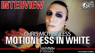 "MOTIONLESS IN WHITE - Chris ""Motionless"" Cerulli interview @Linea Rock 2017 by Barbara Caserta"