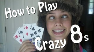 How to play crazy 8s -kids card game - tutorial