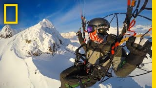 Paramotor Flight Over Alaska's Chugach Mountains and Knik Glacier | National Geographic