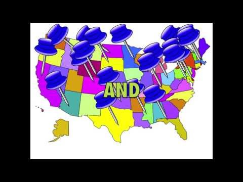 watch 50 State Capitals Song with U.S. Map