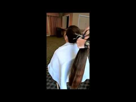Long Hair Play And PonyTail Cut Off