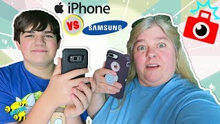 WHAT CAMERA PERFORMS BEST? IPHONE 8 PLUS OR SAMSUNG S8 MOTHER SON FRIENDLY COMPETITION