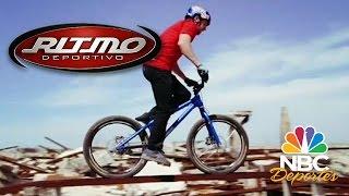 Danny MacAskill en bicicleta en Villa Epecuén | Ritmo Deportivo | NBC Deportes