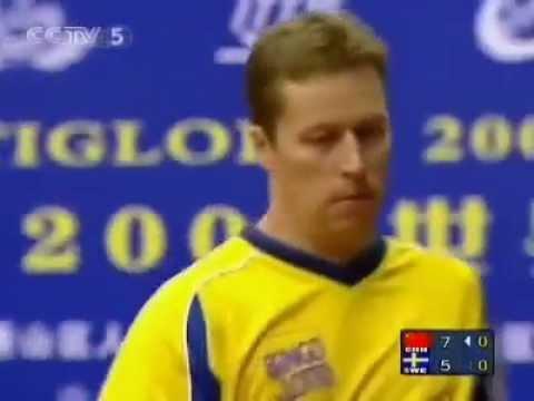 2004 World Cup JO Waldner vs Wang Hao