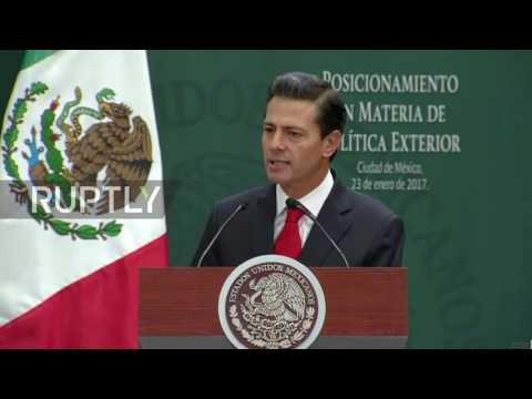 Mexico: 'Mexico does not believe in walls' - Nieto