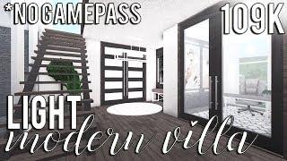 ROBLOX | Bloxburg: Light Modern Villa (No Advanced Placement) 109k