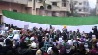 باباعمرو مظاهرة الحرائر 26 1 2012.flv