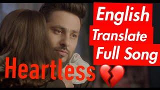 Heartless Badshah English Translate