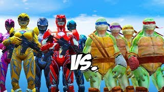 Power Rangers VS Teenage Mutant Ninja Turtles - EPIC BATTLE