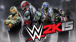 WWE 2K15 -Teenage Mutant Ninja Turtles (TMNT) - Elimination Chamber Match