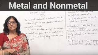 Metal and Nonmetal (Physical properties of nonmetal )