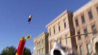 Bello Nock: Stunt Guy SHOOTS Himself Out Of Cannon To Earn Simon's Love! America's Got Talent 2017