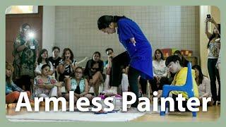 Armless Painter Uses Feet To Create Amazing Art