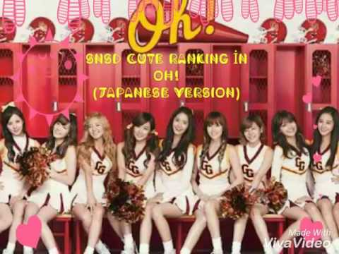 SNSD cute ranking in Oh!  (Japanese version)