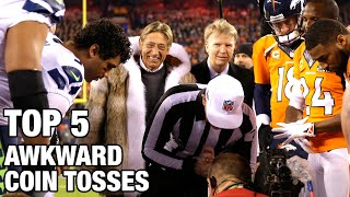 Top 5 Most Awkward Coin Toss Moments in NFL History | NFL