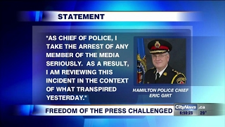 Questions raised after journalists detained at scene of police investigation