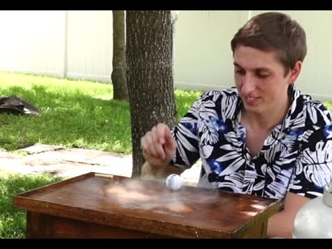 Ping Pong ball filled with liquid nitrogen Insane Speed