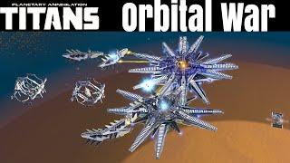 Planetary Annihilation Titans - Orbital War - Multiplayer Gameplay 2v2v2v2v2 Team Games