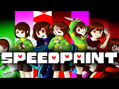 SpeedPaint! Alternative Universe Chara! (Undertale AU's) Part 1
