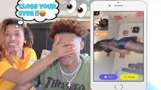 VIDEO CHATTING RANDOM PRETTY GIRLS.. WITH MY GIRLFRIEND 😳 | MONKEY APP !