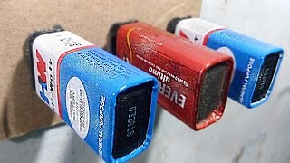 3 Life Hacks For 9v Battery ( Useful Things )