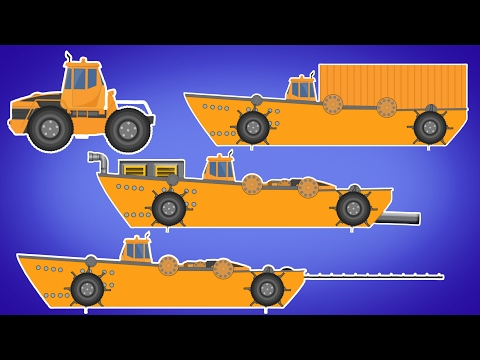 Transformer | Sea Construction Vehicle | Sea Dumpster | Sea Sand Mining  | Vehicle For Kids