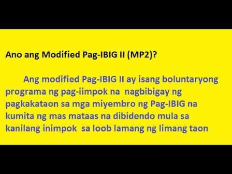 Pag Ibig Fund Program II (MP2) - Paano Kumita sa Pag ibig Fund