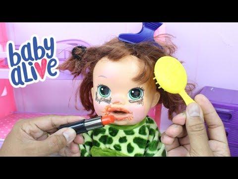 Xxx Mp4 BABY ALIVE SARA Com PAPAI ARRUMANDO E MAQUIANDO A BABY ALIVE O DIA DOS PAIS Novelinha 3gp Sex