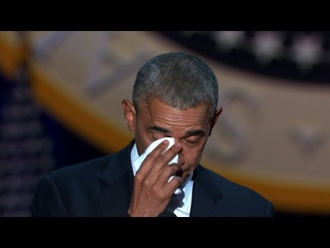 watch Obama tears up talking about Michelle