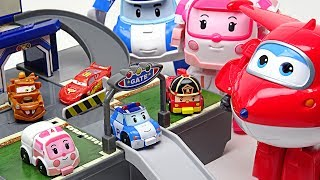 My friends are shrunk!! Super Wings, Disney Cars and Robocar Poli Pocket Playset!! - DuDuPopTOY