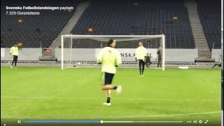 Zlatan Ibrahimovic goes on a mad one at Sweden training - Chip Goal and Volley Goal Amazing!