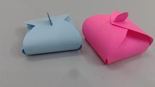طريقة صنع علبة هدايا بالورق - اشغال يدوية - سهلة مرة