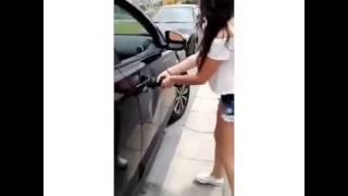 How to fix the dent in the car with dildo :)