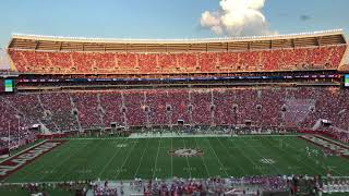 Sun sets on Bryant-Denny Stadium in Alabama football timelapse