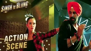 Akshay Kumar & Amy Jackson Fight Scene | Action Scene | Singh Is Bliing | Lara Dutta | HD