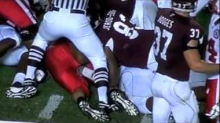 Ben Cotton violated by Texas A&M player 11/20/10