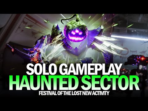 Solo Haunted Sector Completion Gameplay Destiny 2 Festival of the Lost