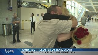 After nearly 50 years, siblings meet for the first time at Austin airport