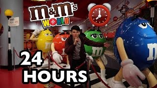 24 HOUR OVERNIGHT In M&M'S WORLD FORT! (EPIC!)