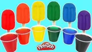 LEARN COLORS Play Doh Rainbow Popsicles Ice Cream | Fun & Easy Dye Play Doh Clay Arts and Crafts!