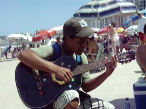 Rafael cantor das praias do Guarujá