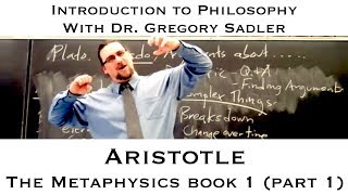 Aristotle, Metaphysics, book 1 - Introduction to Philosophy