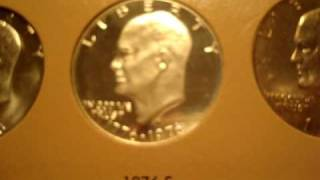 Complete Eisenhower Silver Dollar Collection.
