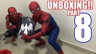 Spiderman Bros UNBOXING SYMBIOTE suit!!